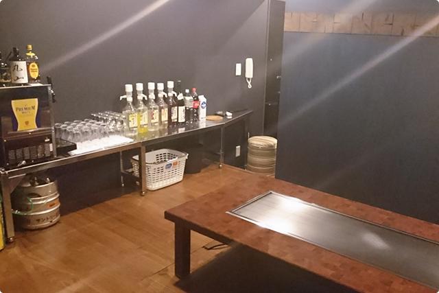 ビールサーバーもあって、飲み放題で貸し切れるプライベートルーム