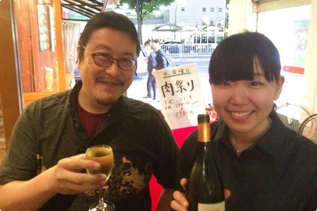 ワイン3杯目はフランスの白「ヴィニウス」