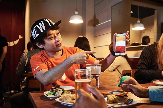 のんさま:はい。今回のような記念パーティだったり、なんとなく飲みたい人を募ったり、開催されている飲み会を探したり出来るマッチングアプリです。 最近リニューアルが完了して、より快適に利用できるようになりました。