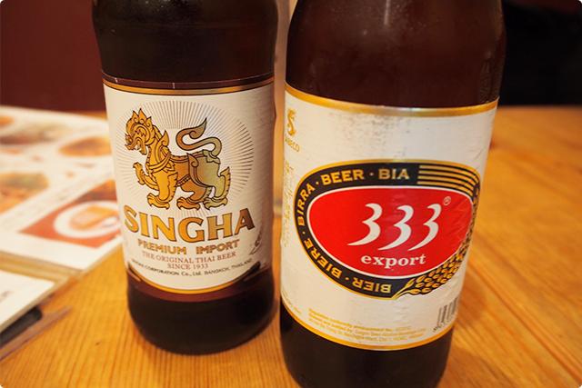 タイのビールとなぜかベトナムのビール!