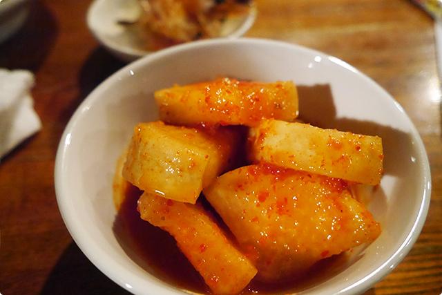 『カクテキ』。絶妙な甘酸っぱさがクセになる!美味しい〜!!