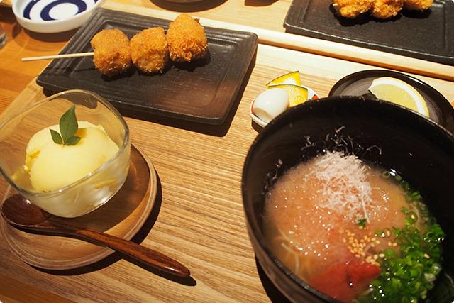 こちらが『豚カツ 梅素麺』