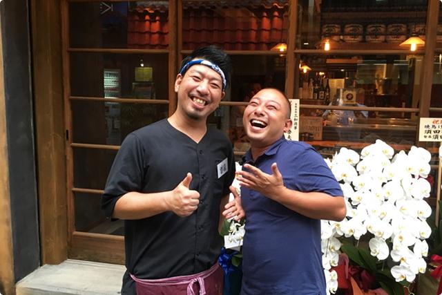 最後に、店長の田中啓司さんとパシャリ♪