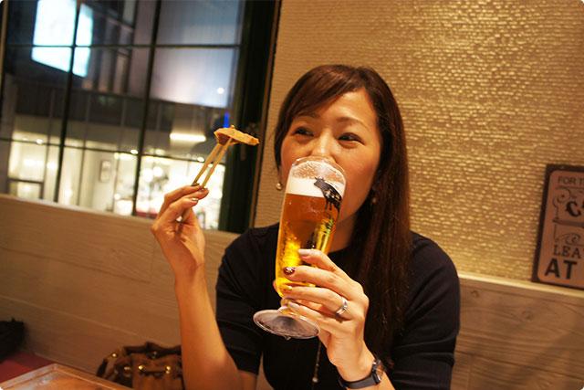 Yukkyもご満悦!ビールに合わないわけがない!