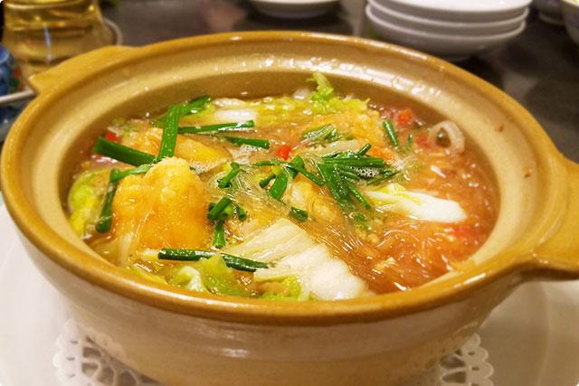 『大海老と春雨のXO醤鍋』