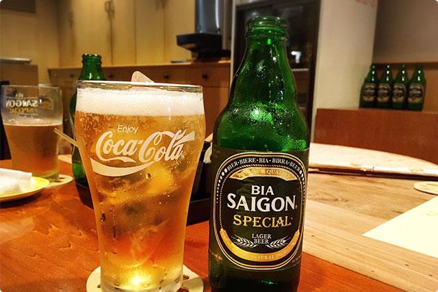 『サイゴンスペシャルビール』¥600