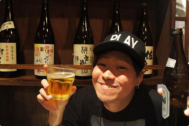 乾杯は瓶ビールで!