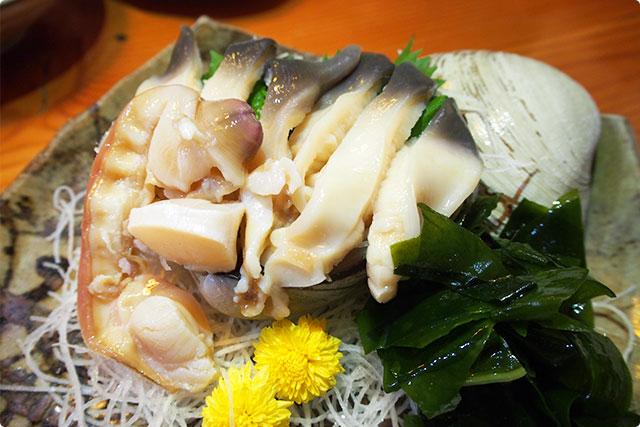 『ほっき貝の刺身』