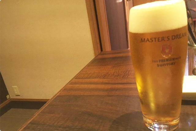 さっそく『マスターズドリーム』で乾杯♪