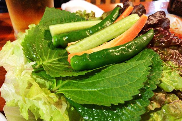 山盛りのお野菜