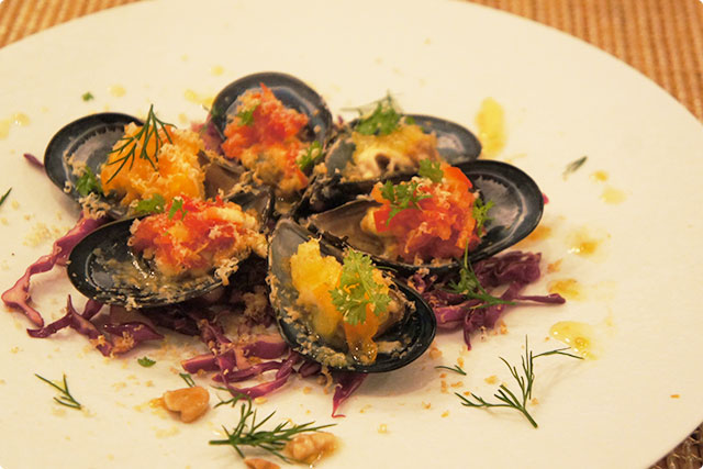 「Appetizer of Mussles」