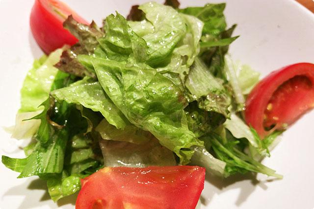 『自家製ドレッシングのサラダ』