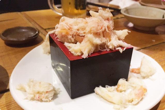 『自家製!本ズワイ蟹のカニ味噌豆腐』