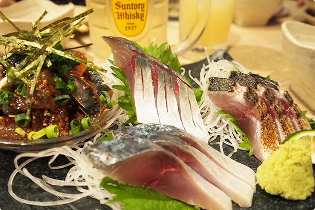 刺、炙り鯖、〆サバ、ゴマ鯖の4種類