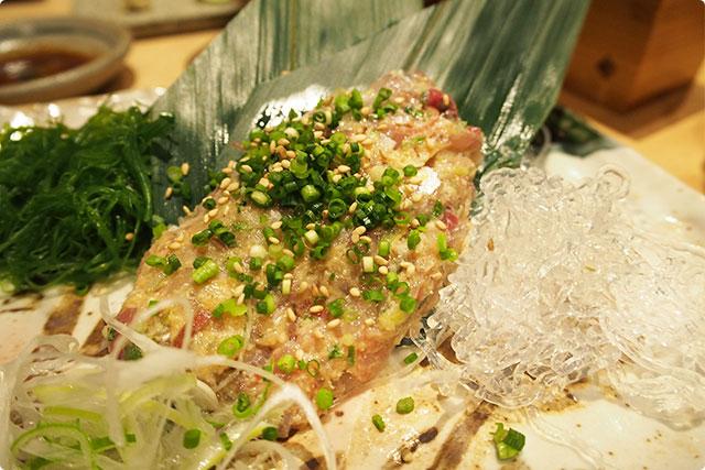 これを肴に今度は同じく純米酒の『天狗舞』をあわせてみたよ!
