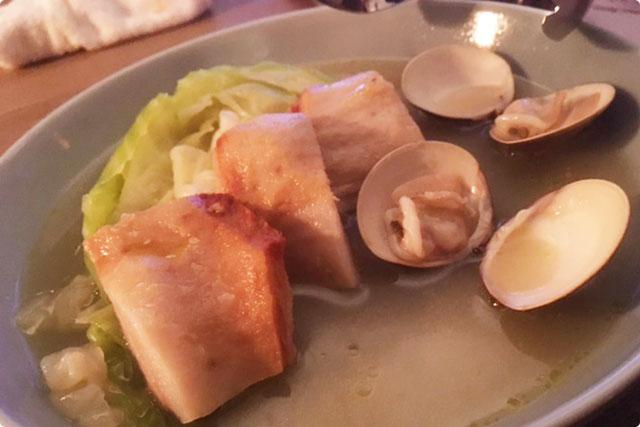 過去・トラディショナル『豚トロと蛤、季節野菜のマリネラ』