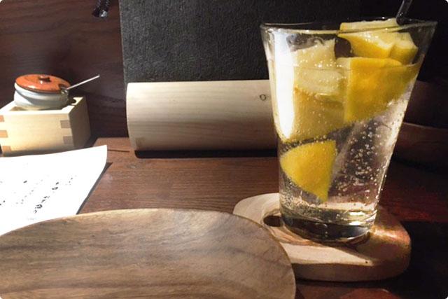今流行りの『レモンサワー』で今宵は乾杯です!