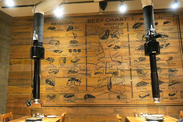 BUTCHER'S HOUSE Beef&Wine 【店内の壁】
