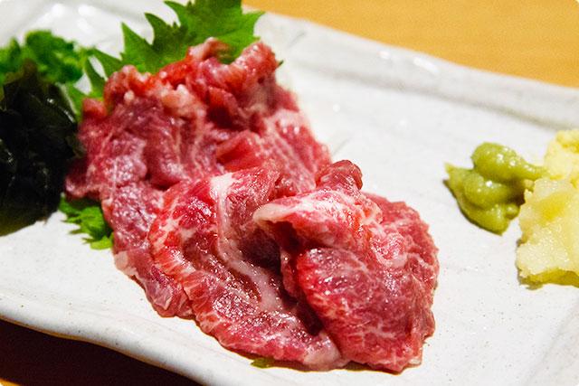 『超霜降り馬刺し』 九州居酒屋エビス 西八王子総本店