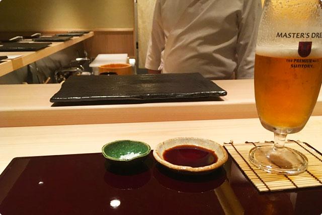 鮨 花おか 『ビール』