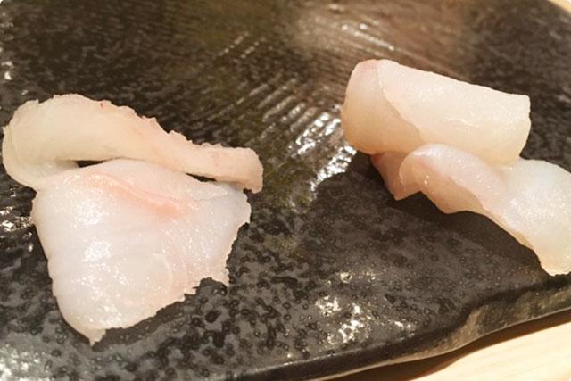 鮨 花おか 『ヒゲダラとアイナメの食べ比べ』